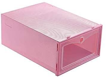 Chyang Cajas de Zapatos Caja de Zapatillas de plástico Transparente Caja de Zapatos de plástico Caja de Almacenamiento de Caja apilable Organizador de Almacenamiento de Zapatos
