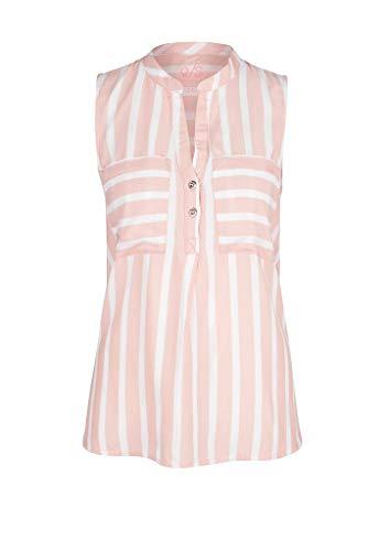 Q/S designed by - s.Oliver Damen 510.12.005.10.100.2005620 Bluse, Light pink Stripes, 36