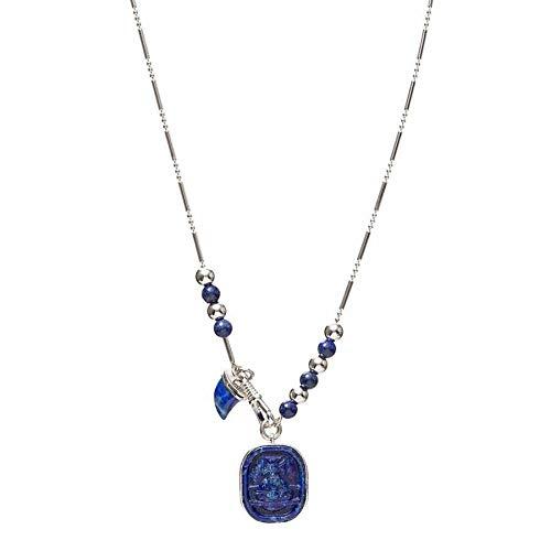 Vivienne Westwood Silver Lapis Idris Pewter Orb Pendant Necklace