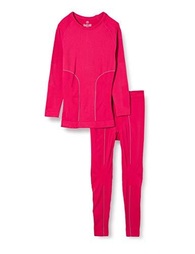 Color Kids Color Ski Nahtlose termo Unterwäsche sous-Vêtements De Sport, Rouge (Raspberry 443-1), 134/140 (Taille Fabricant: 6-8Y) Fille