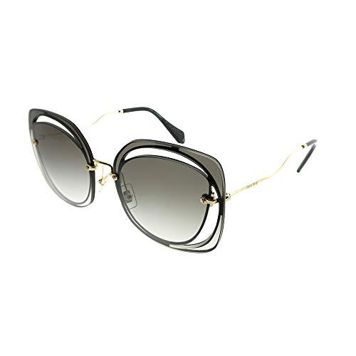 Miu Miu 0MU54SS 1AB0A7 64 Gafas de sol, Negro (Black/Grey), Mujer