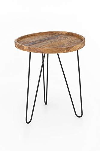 Intex Living Design Teak salontafel 50 cm teakhouten tafel woonkamertafel uniek houten tafel rond