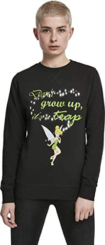 MERCHCODE Damen Tinkerbell Dont Grow Up Crewneck Sweatshirt, Black, XL