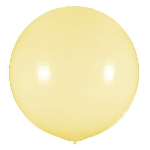 Simplydeko XXL Ballon 100cm | Riesenballon | Riesenluftballon | XXL Luftballon | Hochzeitsballon | Große Luftballons | Beige Creme