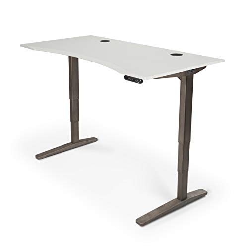 UPLIFT Desk - V2 White Eco Curve Standing Desk