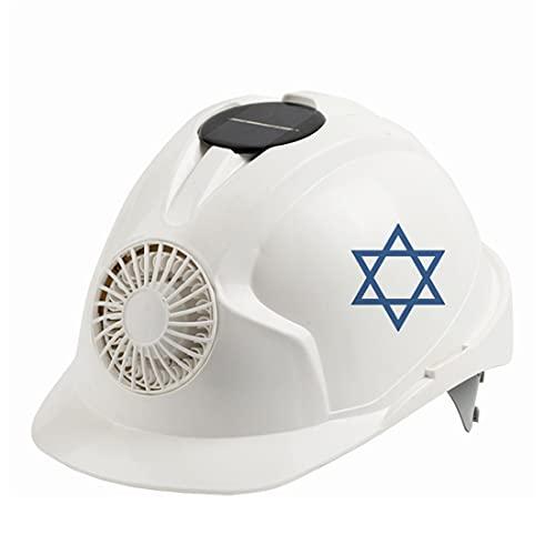 KLMM Casco de Seguridad al Aire Libre de Israel con Ventilador de enfriamiento Construcción de Seguridad Solar de protección Solar Ciclismo de Ciclismo Cap de Protectores (Color : White)