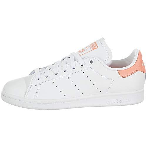 adidas Originals Stan Smith Tenis para mujer, Blanco (Calzado Blanco/Calzado Blanco/Tiza Coral),...