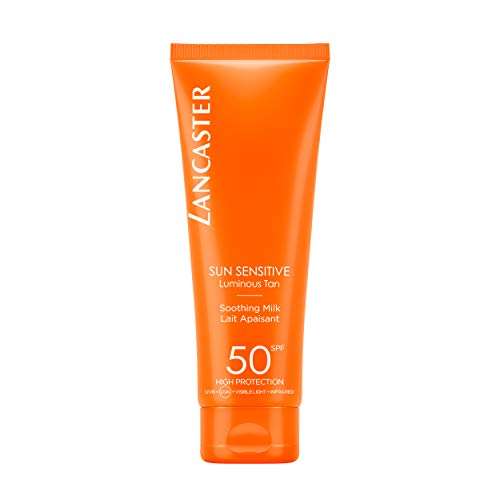 LANCASTER Sun Sensitive Delicate Softening Milk LSF 50, Körper-Sonnenmilch, Infrarot-, UVA- und UVB-Schutz, 125 ml