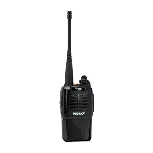 POLMAR WORK-III PMR446 con: 7,4V/2300mAh Li-Ion pacco batterie al Litio, caricabatterie da tavolo, clip da cintura, cinghiello da polso, manuale italiano/inglese - 7200013