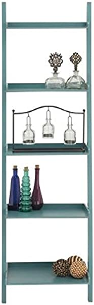 Deco 79 Wood Leaning Shelf 20 By 69 Inch Teal Blue