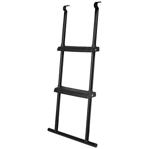 zoomyo Escalera para cama elástica con travesaño de suelo/riel inferior – en 2 longitudes, 75 o 95 cm (75 cm)