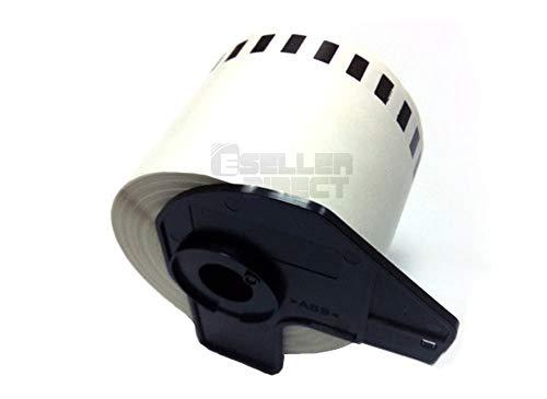Eseller Direct®–100x Dk22205Compatible étiquettes d'adresse permanente pour Brother P-Touch QL 500bs thermique Rouleau de papier–62mm x 30.48m (100rouleaux avec support)