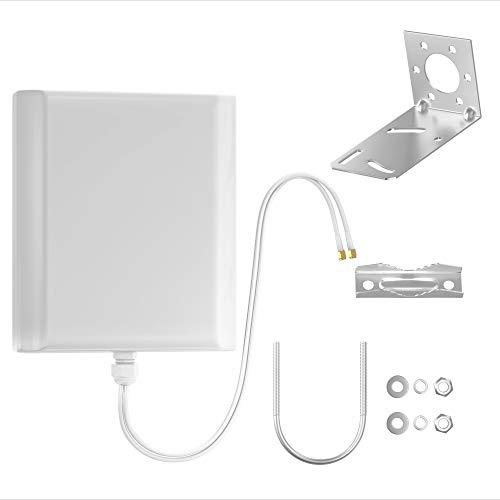 Octofibre Antenne 4G Exterieur - amplificateur pour routeur 4G - compatibilité avec Toutes Les Box - routeur Huawei - Bouygues - Orange - 2 Cables SMA de Longueurs Variables