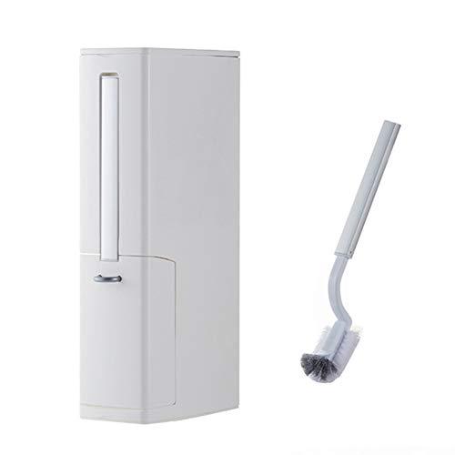 TiTa-Dong - Juego de escobilla de inodoro y soporte 3 en 1, cubo de basura y caja de pañuelos, multifunción, independiente para baño o basura