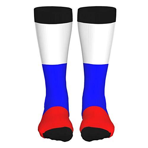 Russian Flag Unisex Dress Socks,Men's Casual Crew Socks,Moisture Wicking Work Training Cushion Boots Socks for Men Women