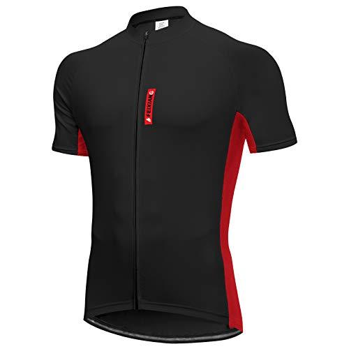 FEIXIANG Radtrikot Herren, Kurzarm Fahrradtrikot UPF 50+ Fahrradbekleidung Fahrrad Trikot für Männer, Atmungsaktive Cycling Jersey Schnell Trocknen Radshirt Fahrradshirt Radsport Bekleidung