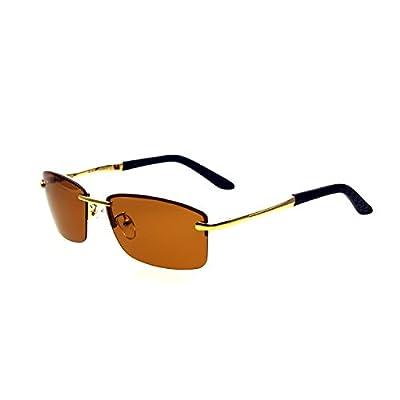 Zacway Polarized Spring Hinges Metal Predator Sunglasses for Men Women UV400 60mm
