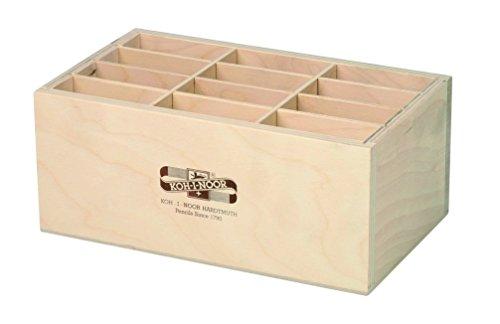 Koh-I-Noor 9475 - Stiftebox Aufbewahrungsbox Pinselbox Stifteköcher aus Holz