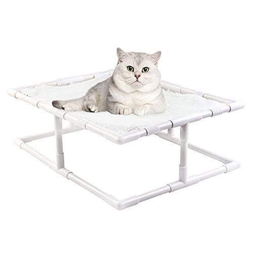 CDDSML Hamaca De Gato Cama para Mascotas Utilizable De Doble Cara para Gatitos Y Cachorros Camas Elevadas para Gatos A Prueba De Humedad Desmontable Y Lavable Capacidad De Carga 12kg