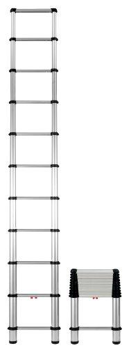 Telesteps 1400E OSHA Compliant 10.5 ft Actual Height, 14 ft Reach, Telescoping Ext Ladder