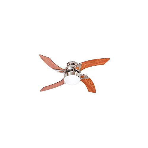 Ventilador de techo - MOOREA - 107cm - 4 palas - 1 l�mpara reversible