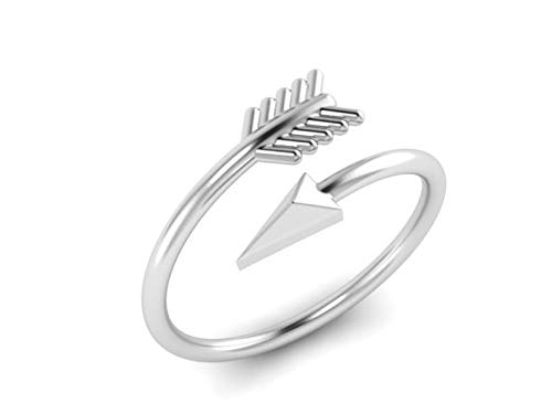 Jewelsmart 925 Silver Arrow Design Adjestable Size Ring for Women and Girls | Love Gift for Valentine