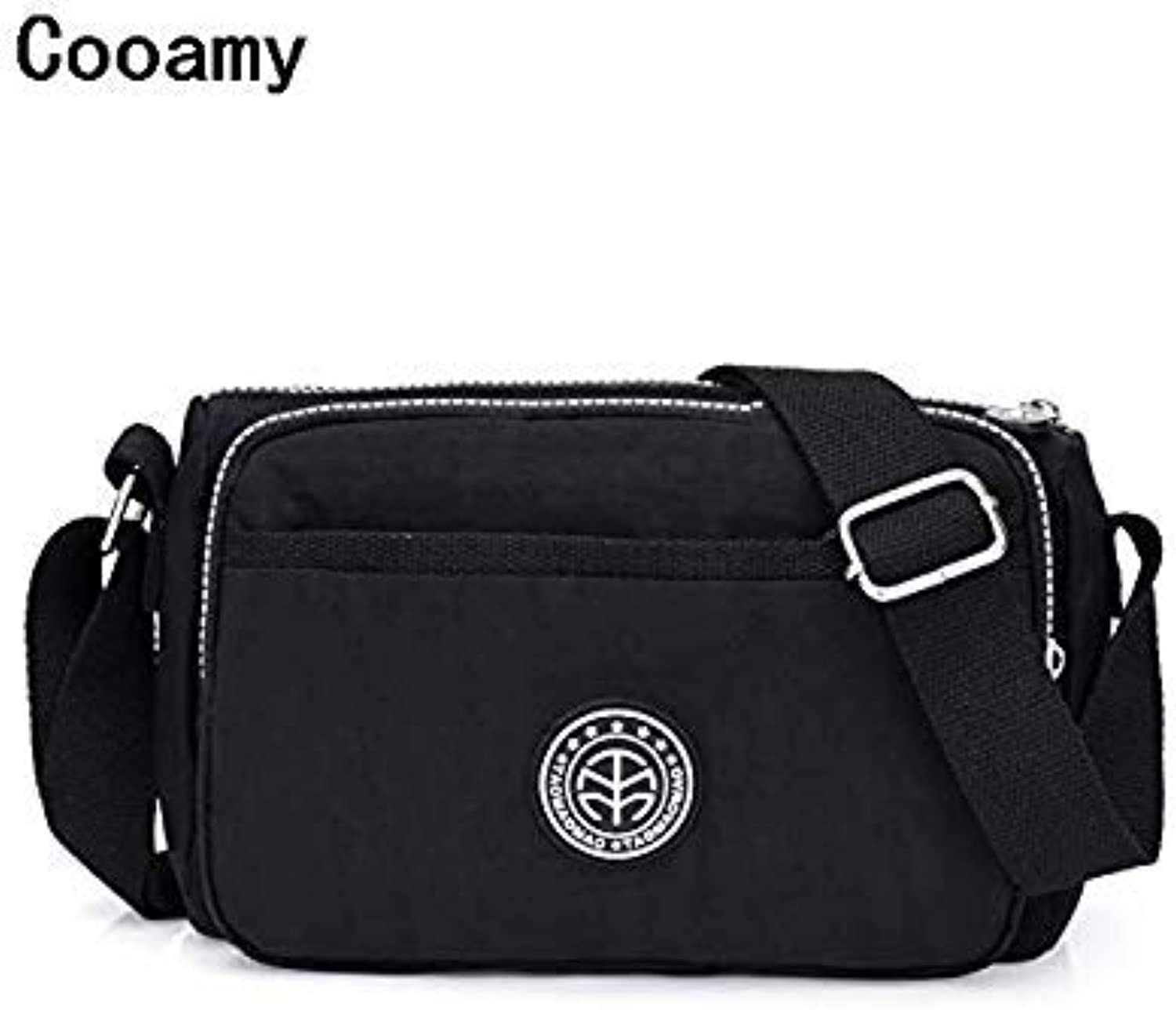 Bloomerang Fashion Designer Ladies Messenger Bag Bolsa Feminina Female Handbags Waterproof Nylon Womens Shoulder Package Crossbody Packet color Black
