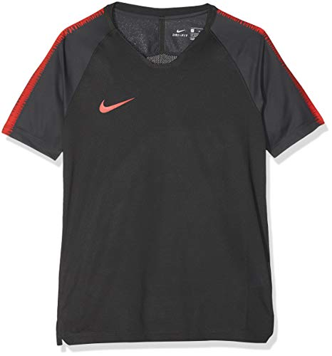 Nike Jungen Breathe Squad T-Shirt, Anthracite/Light Crimson, L