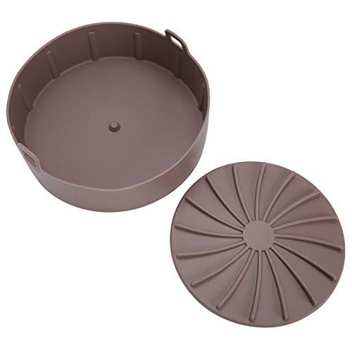 Jingyig Cesta de Vapor, práctica de Silicona Reutilizable portátil Exquisita Rejilla de Vapor, Huevos humeantes para Olla a presión(Brown)