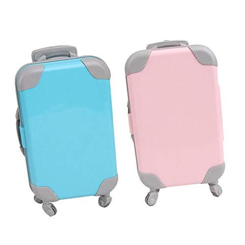 HomeDecTime 2X Valigia per Bambola Carina da Viaggio per Accessori per Bambole da 18 Pollici