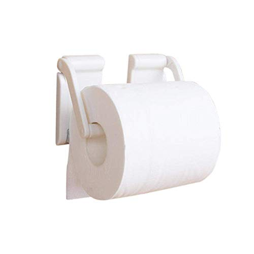 Soporte de papel higiénico ajustable sin punch Magnet blanco Rollo de papel Hogar Cocina Cocina Accesorios Accesorios de baño Práctico Cuarto de baño Titular de papel higiénico Organizadores Estante A