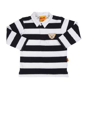 Steiff Steiff Unisex - Baby Poloshirt 1/1 Arm 9916873, Blau (Marine), 74 (Herstellergröße: 74)