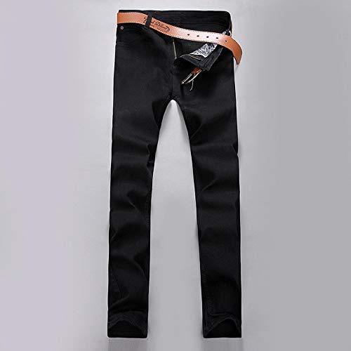 Vaqueros para Jeans Pantalones Hombres Jeans Slim Fit Skinny Denim Jeans Designer Jeans Rectos Elásticos Pantalones Elásticos Jeans para Hombres 29 Negro
