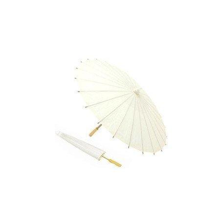 Lote de 10 Parasoles Papel Bambú Bodas - Sombrillas Chinas Baratas Amazon Dónde Comprar (Envío Gratis desde España) (Marfil)