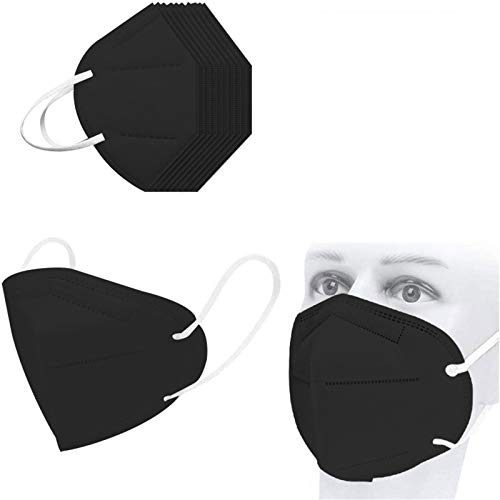 50pcs FDẴ Certified Black Disposаble_𝙉𝟵𝟱_Mẵsk, 5 Layers Cup Dust Safety Face 𝐌𝐚𝐬𝐤s for Coronàvịrụs Protectịon, Fịlter Efficịency≥95%, Safety Facial Mouth Covers