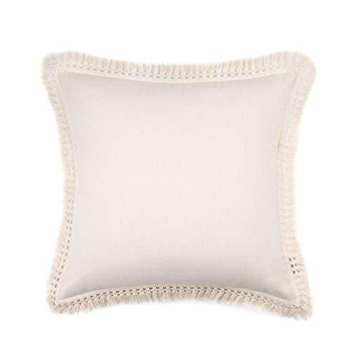 Cuscino posteriore, Federa per cuscino Cuscino con frange, Cuscino in lino di cotone, Piccolo cuscino quadrato fresco, Grande schienale etnico fatto a mano, Federa / Cuscino / Fodera per cuscino
