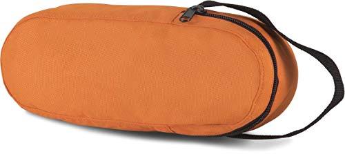 Sacoche de pétanque orange, pour 3 boules, avec fermeture zippée.