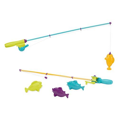 Battat Jeu de pêche avec 2 Cannes magnétiques et 4 Poissons – Jouer à l'Exterieur – pour Enfants de 3 Ans et Plus (6 pièces), BT2624C1Z