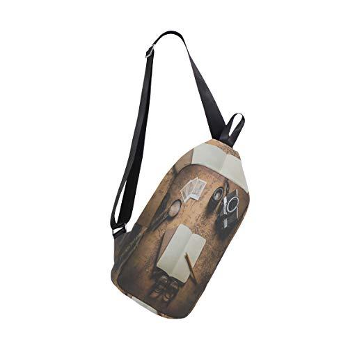 EZIOLY Schulter-Rucksack mit Weltkarte für Fotokameras, für Damen und Herren