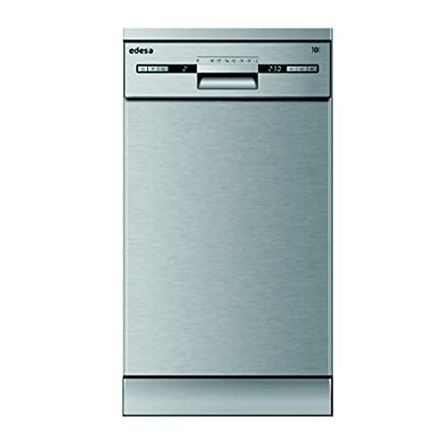 Edesa | Lavavajillas Libre Instalación | Modelo EDW-4710 X | Ancho de 45 cm | 7 Programas de Lavado | Clase de eficiencia Energética E | Acabado en Acero Inoxidable