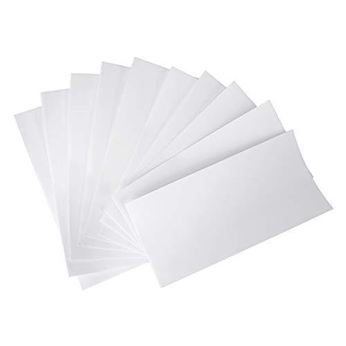 AIEVE 10 Stück Reparatur Folie Nylon Reparatur Patch Selbstklebender Reparaturflicken Flicken Aufkleber Wasserdich für Plane Zelte Rucksäcke Regenjacke Daunenjacken Regenschirm(Weiß)