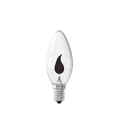 CALEX Lámpara decorativa con efecto fiammella, Casquillo E14, 3 W, Color transparente