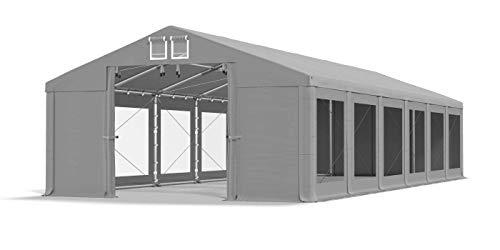 Das Company Carpa transparente para fiestas, 6 x 12 m, impermeable, gris, 580 g/m², lona de PVC, para todo el año, estable, para jardín, invierno Plus ISDT