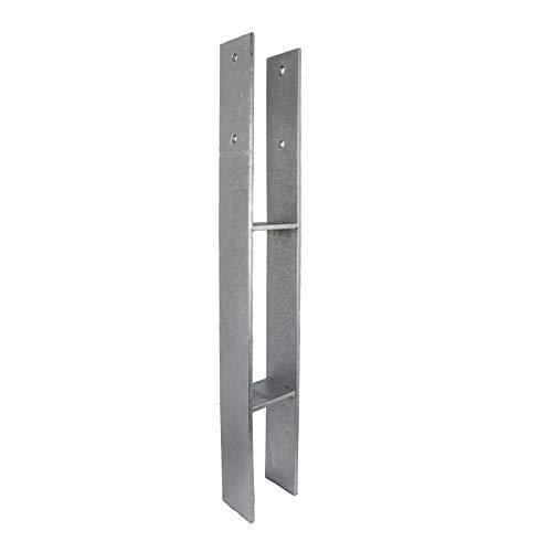 GeZu Impex® H-Anker 141 x 800 x 80 x 8 mm Pfostenträger Pfostenschuh Pfostenanker