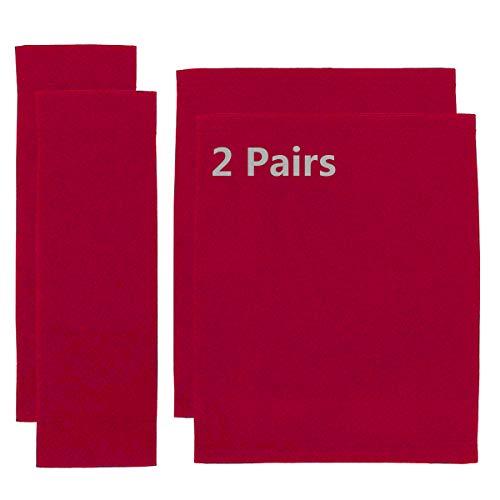 Counting Mars Ersatzbezug für Regiestuhl, 20 cm x 52 cm + 52 cm x 42 cm, Rot