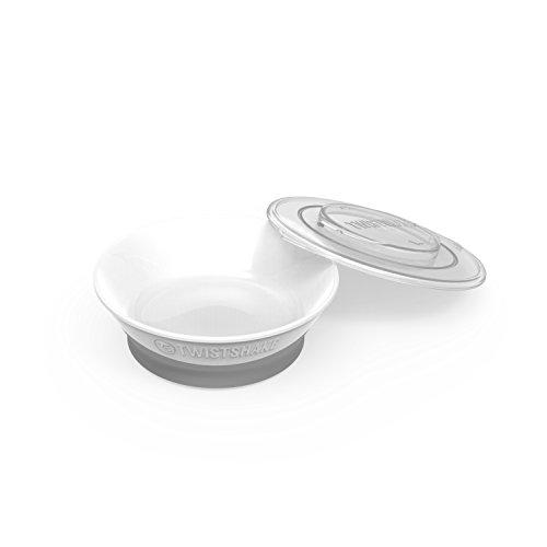 TWISTSHAKE Babyschüssel mit Saugnapf aus Silikon   BPA Frei   Rutschfest   ab 6 Monaten, White, Weiss
