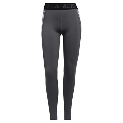 adidas TF L 3S T Collant (1/1), Dark Grey Heather/White, S Donna
