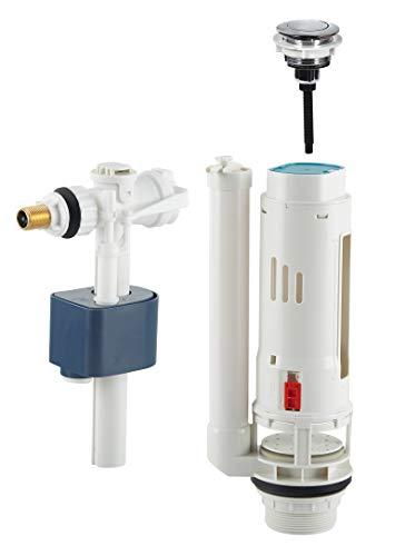Conjunto de descarga pulsador simple volumen + Grifo flotador lateral M3/8