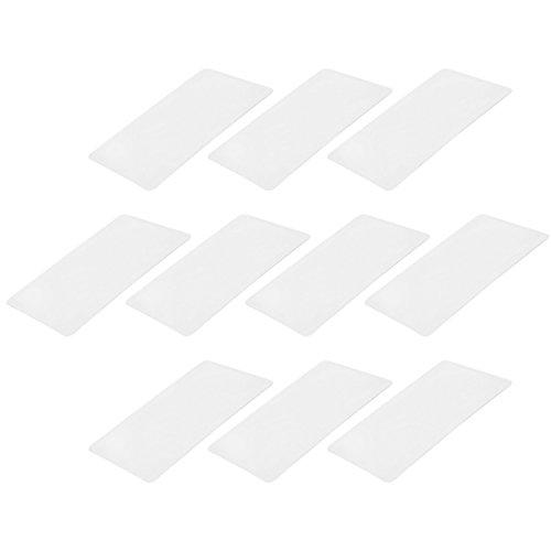sourcing map 10 Stk. Fresnel Linsenlupe 80mmx45mm 3X 300% Kreditkarte Lupe Klar DE de