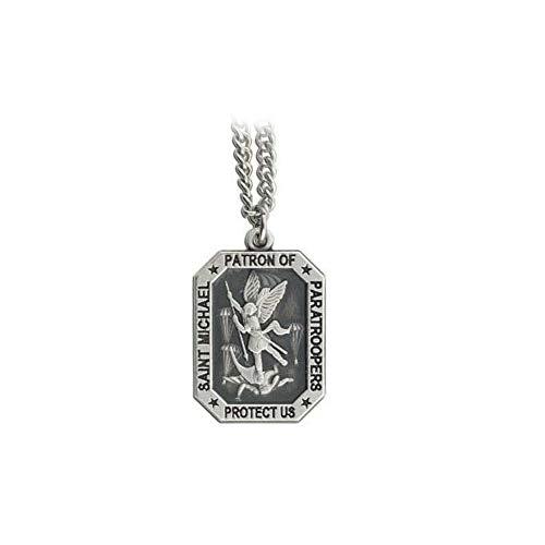 Saint Michael Patron Saint of Paratroopers'Protect Us' Airborne Medallion Pendant